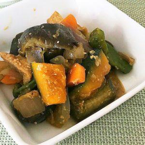 とろとろ長なすと野菜の味噌煮